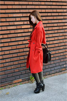 red zipia coat - army green zipia pants