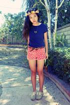 orange star shorts - navy cotton Target t-shirt