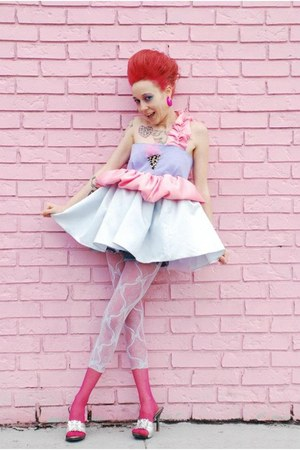 Cotton Candy Punk Couture dress