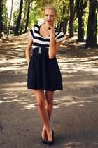 white New Yorker shirt - black New Yorker skirt - black Deichmann heels