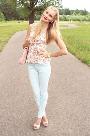Bik Bok top - Arafeelcom bag - H&M pants - La La heels