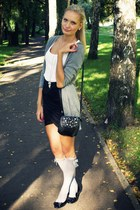 black H&M skirt - black Collosseum bag - heather gray Tally Weijl socks