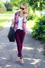 Hot-pink-quiz-clothing-blazer-black-h-m-bag-maroon-h-m-pants