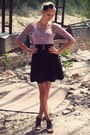Light-purple-new-yorker-top-black-stradivarius-skirt-black-super-street-shoe