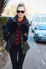 Army-green-h-m-jacket-ruby-red-h-m-shirt-black-jollychic-bag