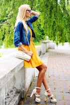 navy Ebay jacket - mustard Lovelwholesale dress - cream Ebay bag
