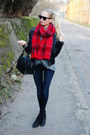 Black-h-m-boots-navy-h-m-jeans-black-new-yorker-jacket-ruby-red-h-m-scarf
