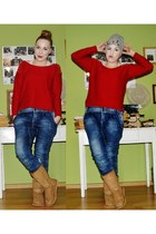 ruby red sweater