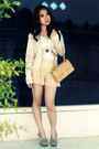 Beige-chanel-bag-beige-topshop-shorts-beige-blazer-gray-pretty-fit-shoes