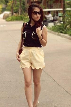 scallop vintage shorts