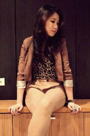 leopard print Zara top