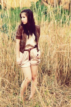 brown Zara jacket