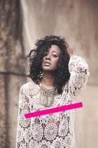 Zara dress - Bershka accessories