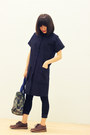 Dark-brown-flat-clarks-originals-shoes-navy-coat-dress-crosswoodstore-dress