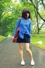 Denim-shirt-urban-outfitters-shirt-tote-wood-wood-bag