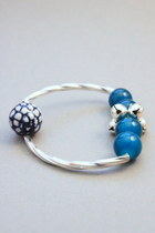 sky blue CrossWoodStore bracelet