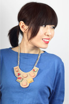Handmade Statement Hip Hop Geometric Necklace