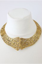 Vintage Style Bronze Collar Necklace