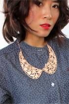 Rose Gold Peter Pan Collar Necklace