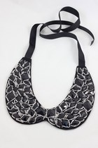 Black Sparkling Resin Peter Pan Collar Necklace-JS022-12
