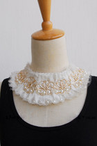 ivory lace pearl CrossWoodStore necklace