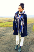 navy large CrossWoodStore scarf