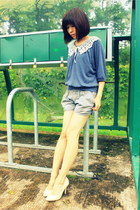 heather gray cotton casual Xiao Ye Qu shorts