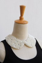 Pearl Diamond Peter Pan Collar Necklaces CZ17