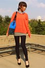 Orange-wool-xiao-ye-qu-sweater-white-crosswoodstore-accessories