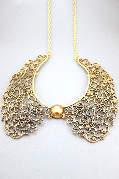 gold CrossWoodStore necklace