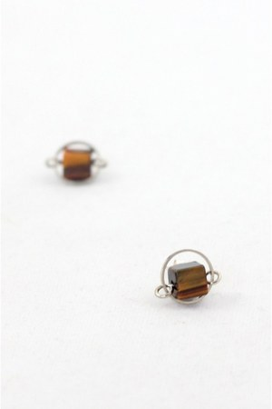 brown stud earrings CrossWoodStore earrings
