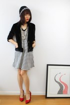 houndstooth Pencey Standard dress - minimalist CrossWoodStore necklace
