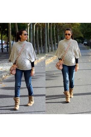 dark khaki Stradivarius shirt - Stradivarius shirt - camel Zara boots