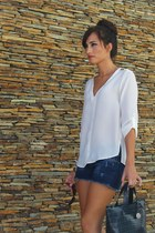 Zara shirt - Furla bag - Zara shorts - Mango sunglasses - Hera sandals