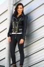 Black-calzedonia-leggings-black-leather-jacket-balmain-x-h-m-blazer
