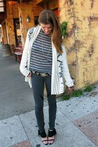 Urban Outfitters cardigan - t by alexander wang top - vintage belt - Helmut Lang