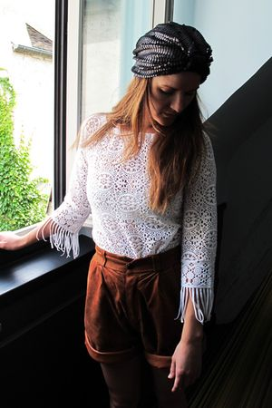 pieces accessories - second hand top - second hand shorts