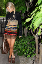 Dries Van Noten sweater - Zara shorts - Topshop shoes - Chloe accessories