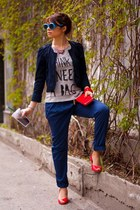 Zara blazer - Zara t-shirt - Zara pants