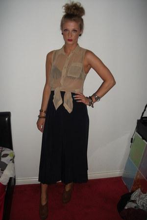 Glamorous blouse - midi skirt vintage skirt