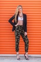 black blazer - pants