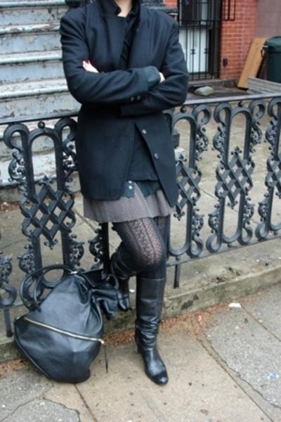 Kitani blazer - DKNY shirt - Wrap-around skirt - Ellen Tracy dress - Ellen Tracy