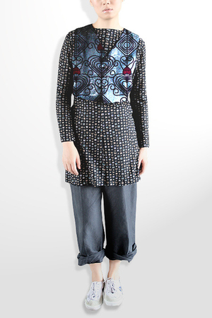 Prints by Unocosa vest - Express dress - 31 phillip lim pants -