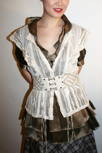 Yoana Baraschi top - Unocosa dress - Sample skirt - Chinese Laundry belt - Casad