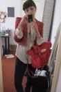 Black-office-boots-black-primark-leggings-red-primark-blazer-ivory-primark