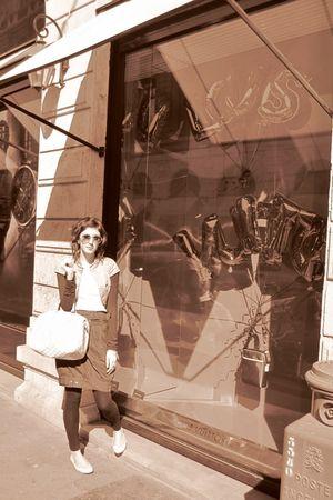 Ray Ban glasses - Stradivarius leggings - Vintage Shop Lyon skirt - Stradivarius