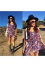 Gray-gray-boots-nine-west-boots-violet-floral-print-sylk-dress