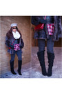 Black-houndstooth-charlotte-russe-boots