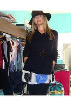 Kersh jacket - Urban Outfitters dress - Goorin hat