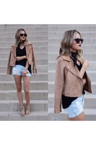 camel suede jacket Urban Outfitters jacket